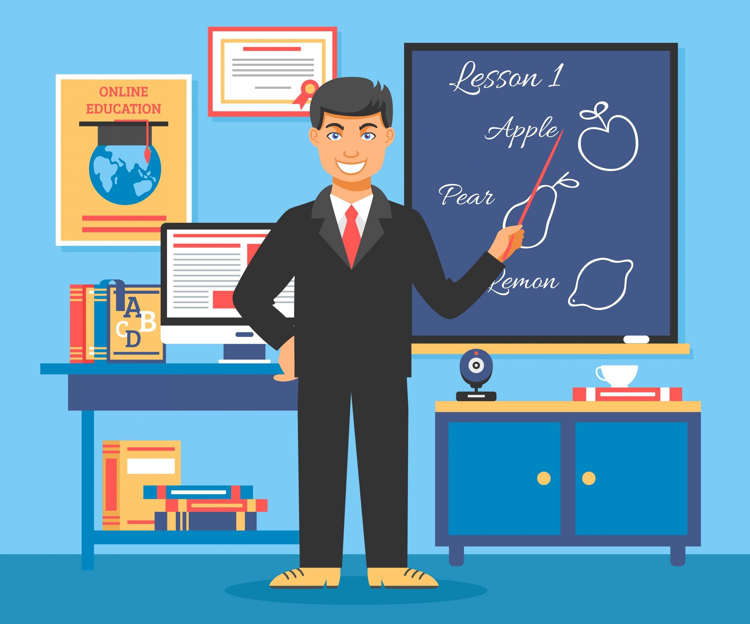 Online Education Training Illustration